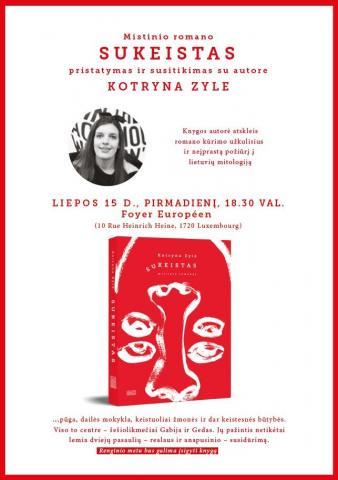 """Susitikimas su rašytoja Kotryna Zyle ir knygos """"Sukeistas"""" pristatymas"""